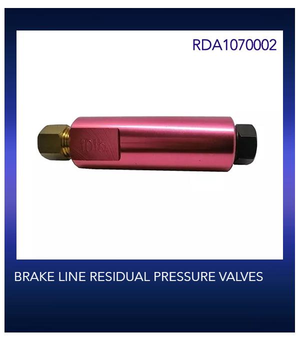 BRAKE LINE RESIDUAL PRESSURE VALVES