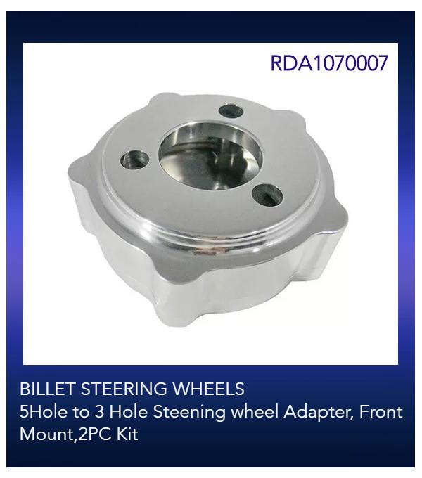 BILLET STEERING WHEELS 5Hole to 3 Hole Steening wheel Adapter, Front Mount,2PC Kit