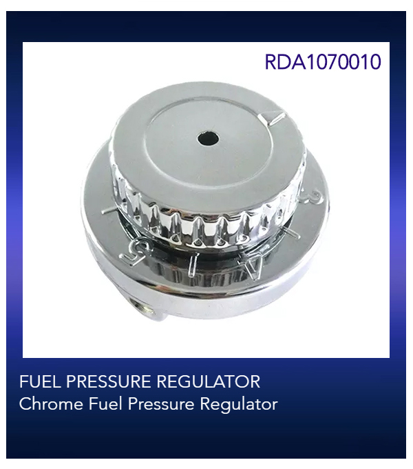 FUEL PRESSURE REGULATOR Chrome Fuel Pressure Regulator 