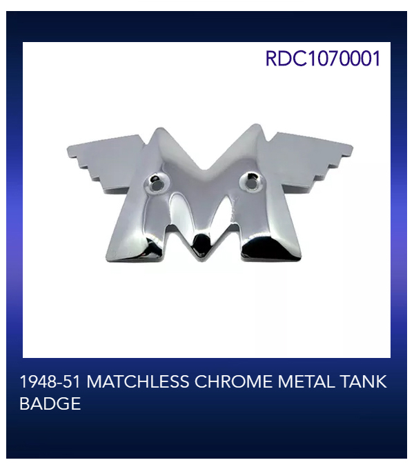 1948-51 MATCHLESS CHROME METAL TANK BADGE