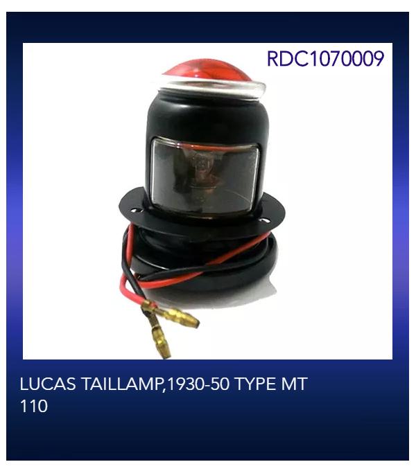 LUCAS TAILLAMP,1930-50 TYPE MT 110