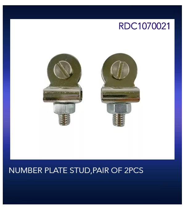 NUMBER PLATE STUD,PAIR OF 2PCS